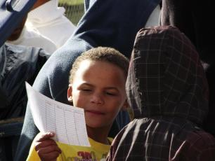 A child registers for the JBay project